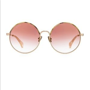 DIFF Isla Round Sunglasses Brushed Gold